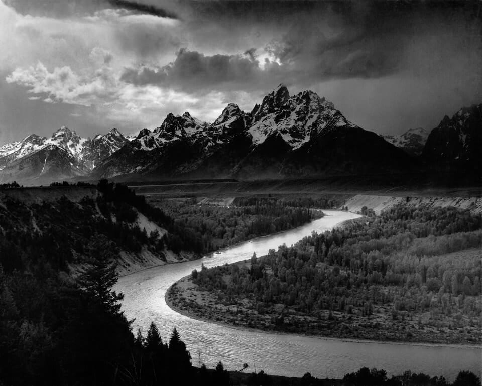 """""""Os Tetons e o rio Snake"""", de Ansel Adams."""