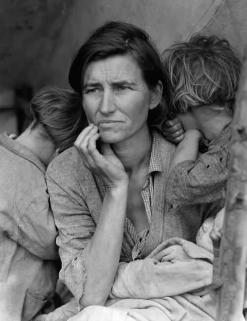 """Mãe migrante"", a fotografia mais famosa de Dorothea Lange"