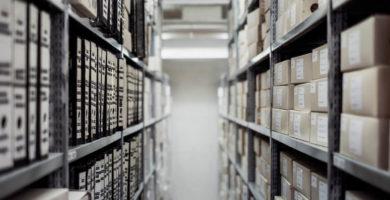 storage facility shelves